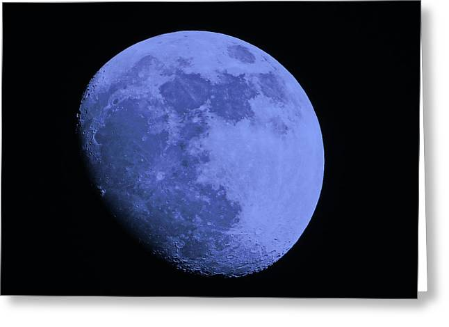 Man In The Moon Greeting Cards - Blue Moon Greeting Card by Tom Gari Gallery-Three-Photography