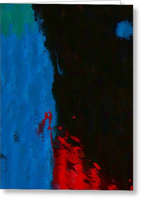 Abstract Movement Greeting Cards - Blue Moon Greeting Card by Kume Bryant