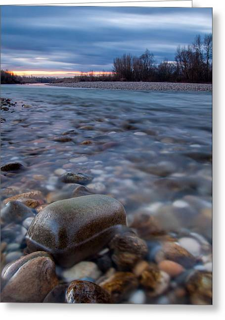 Riverscapes Greeting Cards - Blue morning Greeting Card by Davorin Mance