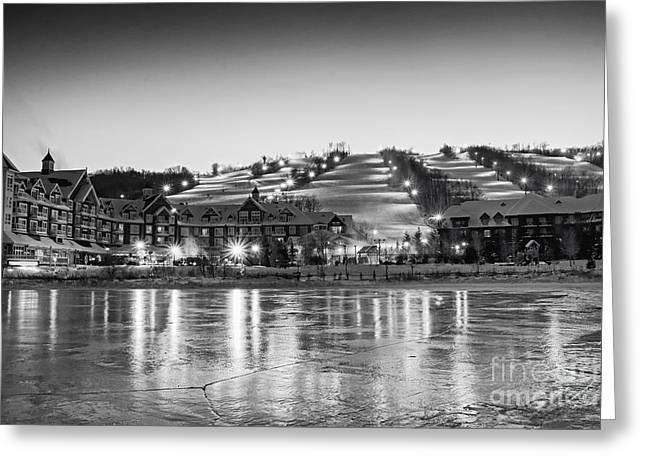 Collingwood Greeting Cards - Blue Mountain Ski Resorts Greeting Card by Charline Xia