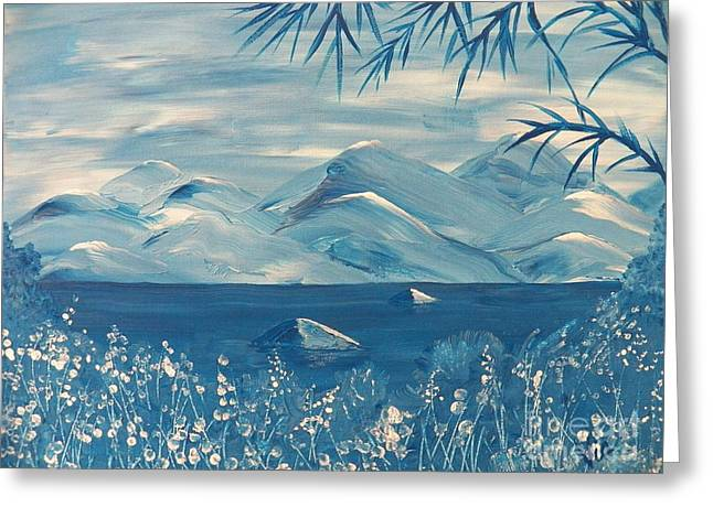 Seacape Greeting Cards - Blue Mountains Greeting Card by Judy Via-Wolff