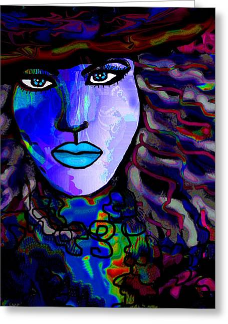 Blue Mystique Greeting Card by Natalie Holland