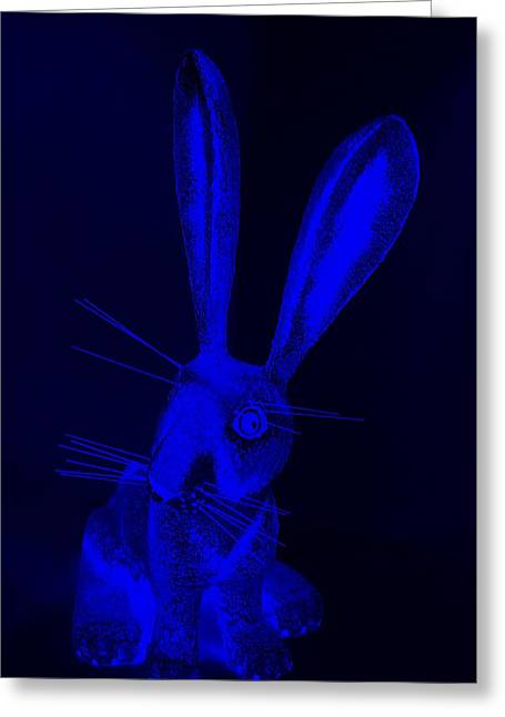Bugs Bunny Greeting Cards - Blue New Mexico Rabbit Greeting Card by Rob Hans