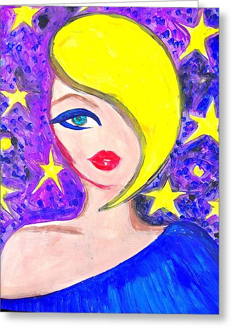 Most Liked Greeting Cards - Blue Night Greeting Card by Alesya Cabral