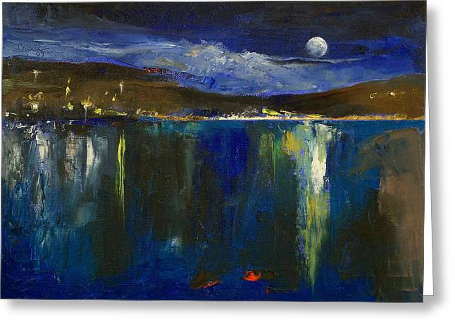 Blue Nocturne Greeting Card by Michael Creese