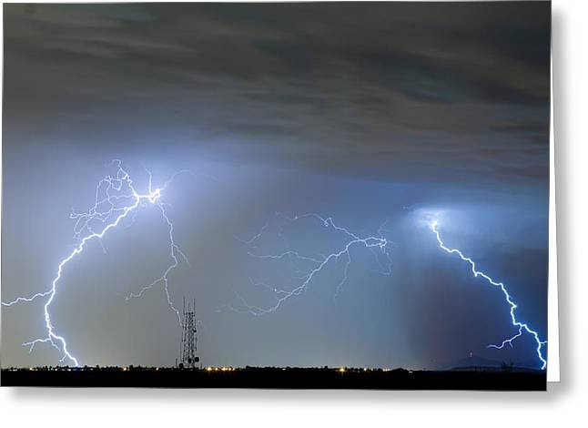 Lightning Gifts Greeting Cards - Blue Noise Greeting Card by James BO  Insogna