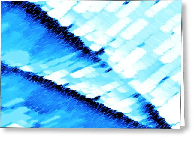 Arctic Rose Greeting Cards - Blue Ocean Greeting Card by Manju Lata