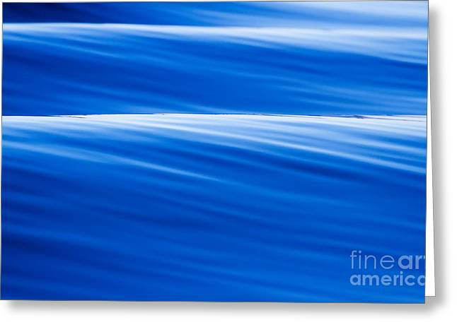 Abstract Waves Photographs Greeting Cards - Blue Ocean Waves Abstract Greeting Card by Dustin K Ryan