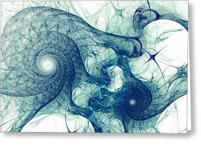 Biology Greeting Cards - Blue Octopus Greeting Card by Anastasiya Malakhova