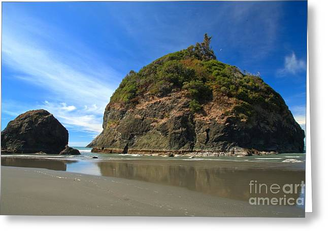 Blue Over Trinidad Greeting Card by Adam Jewell