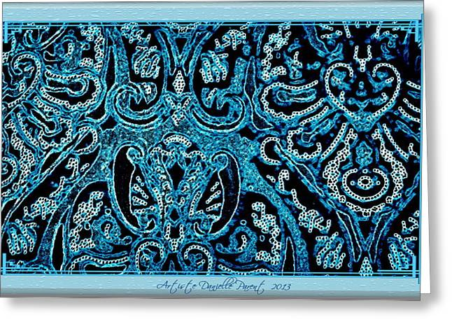 Paisley Blue Fabric Greeting Cards - Blue Paisley Patterns  Greeting Card by Danielle  Parent