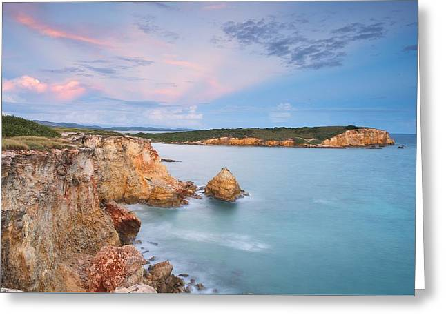 Anti Greeting Cards - Blue Paradise Greeting Card by Photography  By Sai