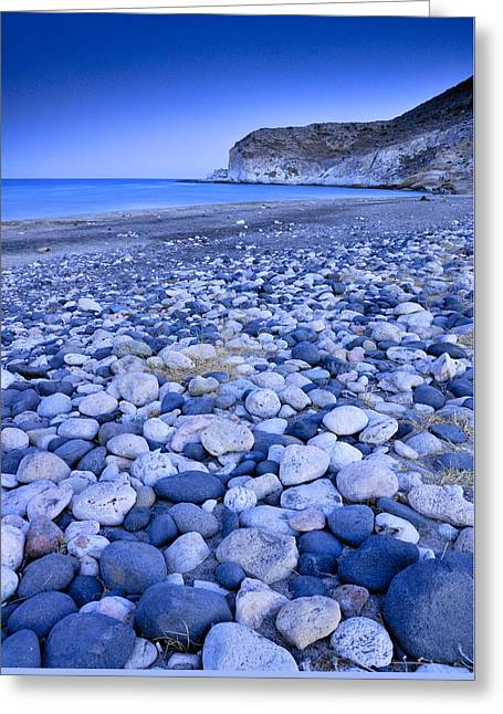 Europe Greeting Cards - Blue pebbles Greeting Card by Guido Montanes Castillo