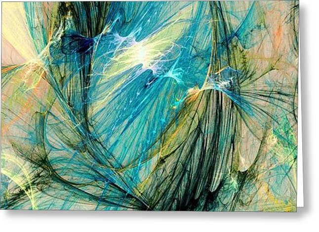 Blue Phoenix Greeting Card by Anastasiya Malakhova