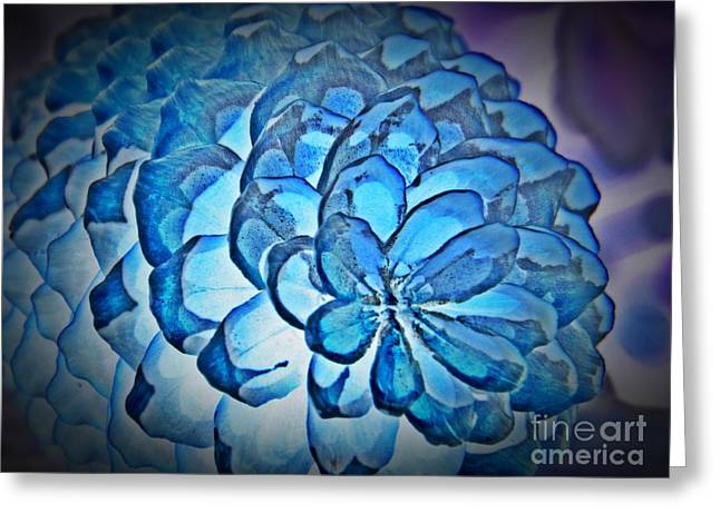 Neurotic Images Photography Greeting Cards - Blue Pine Cone 2 Greeting Card by Chalet Roome-Rigdon