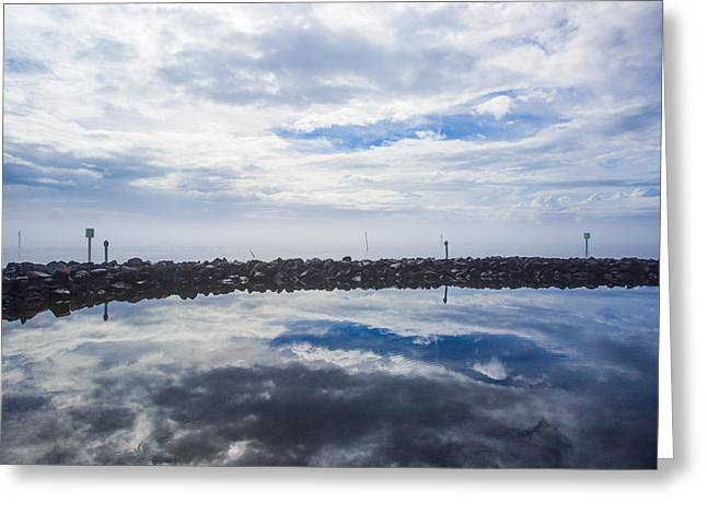 Harkers Island Greeting Cards - Blue Planet Greeting Card by Paula OMalley