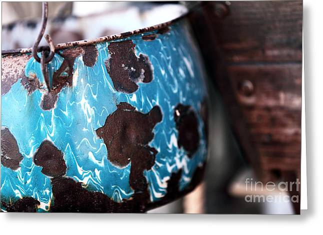 Contemporary Cowboy Gallery Greeting Cards - Blue Pot Greeting Card by John Rizzuto