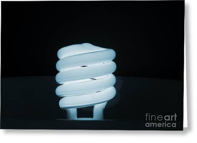 Florescent Lights Greeting Cards - Blue Radiance Greeting Card by Robin Davis