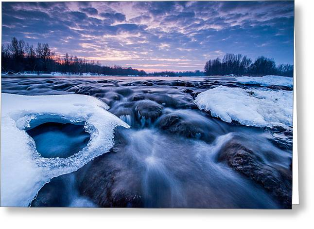 Blues Greeting Cards - Blue rapids Greeting Card by Davorin Mance