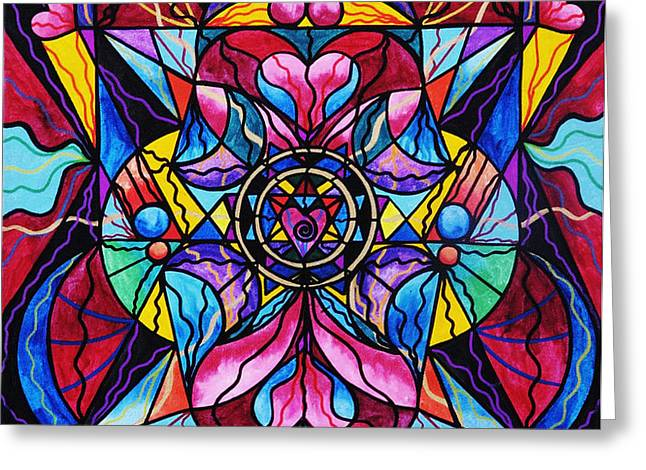 Blue Ray Healing Greeting Card by Teal Eye  Print Store