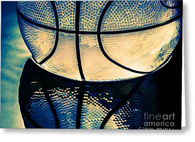 Basketballs Greeting Cards - Blue Basketball Greeting Card by  rdm-Margaux Dreamations