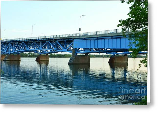 Blue Reflections Greeting Card by Kathleen Struckle