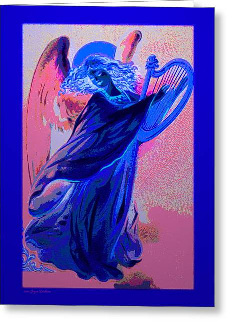 Angels Numbers Greeting Cards - Blue Rhapsody Greeting Card by Joyce Dickens