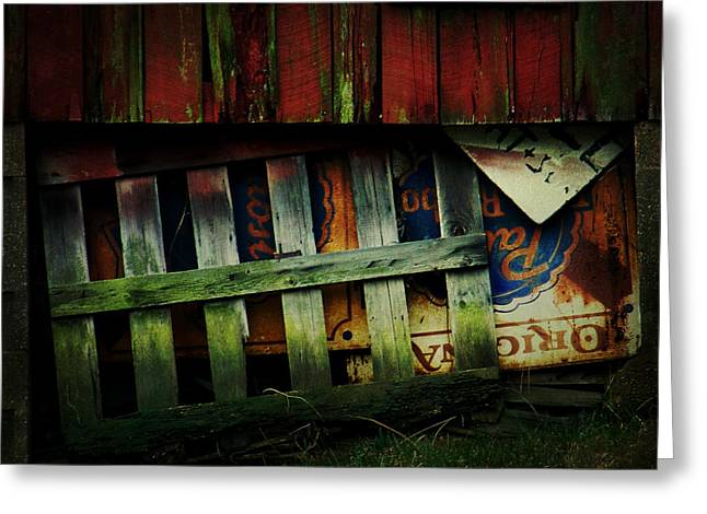 Old Barns Greeting Cards - Blue Ribbon Landscape Greeting Card by Rebecca Sherman