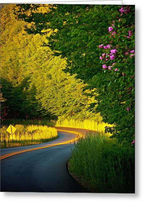 Appalachian Greeting Cards - Blue Ridge Afternoon Greeting Card by John Haldane