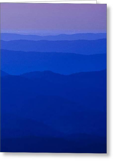 Receding Greeting Cards - Blue Ridge Colors Greeting Card by Andrew Soundarajan