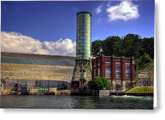 Power Plants Greeting Cards - Blue Ridge Dam Greeting Card by Greg and Chrystal Mimbs