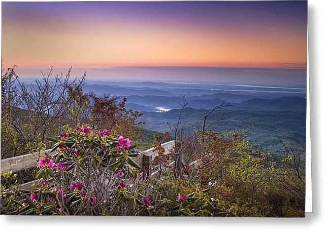 Blue Ridge Mountains Greeting Cards - Blue Ridge Dawn Greeting Card by Andrew Soundarajan