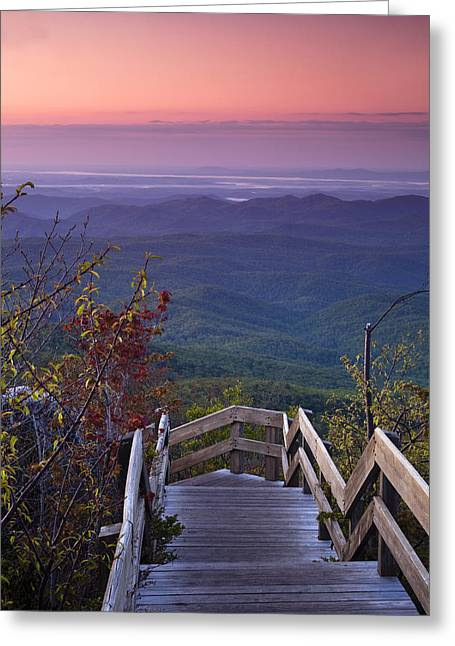 Colorful Photos Greeting Cards - Blue Ridge Morning Greeting Card by Andrew Soundarajan