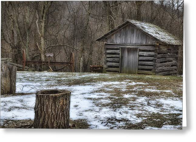 Haying Greeting Cards - Blue Ridge Mountain Farm Greeting Card by Steve Hurt