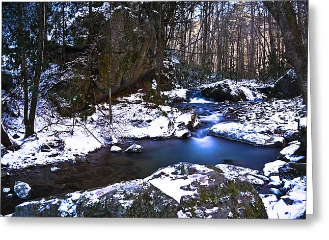 Franklin Tennessee Greeting Cards - Blue Ridge Mountain Winter Greeting Card by Ryan Phillips