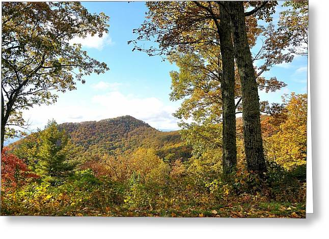 Yellow Line Greeting Cards - Blue Ridge Mountains 1 Greeting Card by Todd Hostetter