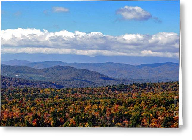 Blue Ridge Parkway In Fall Greeting Cards - Blue Ridge Mountains 2 Greeting Card by Lydia Holly
