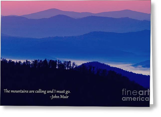 Blue Ridge Mountains Greeting Card by Dawna  Moore Photography