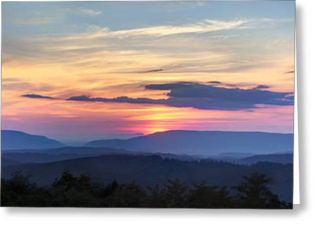 Tn Greeting Cards - Blue Ridge Mountains Greeting Card by Debra and Dave Vanderlaan