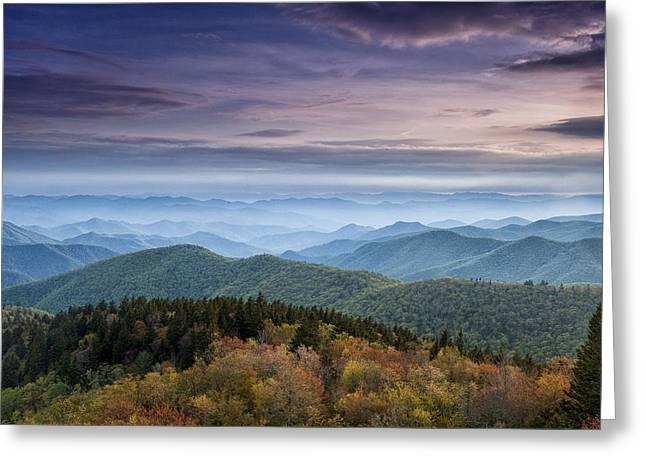 Overlook Greeting Cards - Blue Ridge Mountains Dreams Greeting Card by Andrew Soundarajan