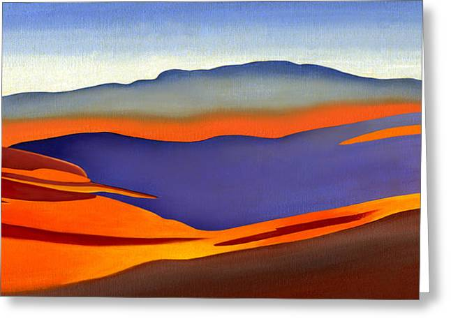 Catherine White Paintings Greeting Cards - Blue Ridge Mountains East Fall Art Abstract Greeting Card by Catherine Twomey