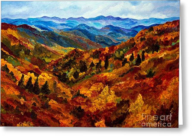 Blue Ridge Mountains In Fall II Greeting Card by Julie Brugh Riffey