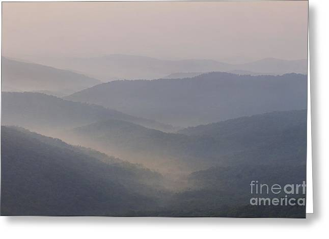 Jonathan Welch Greeting Cards - Blue Ridge Mountains Greeting Card by Jonathan Welch