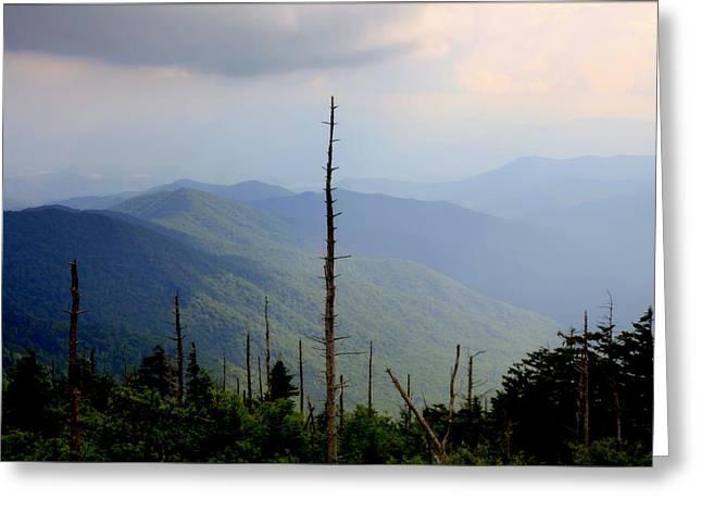 Blue Ridge Mountains Greeting Card by Karen Wiles