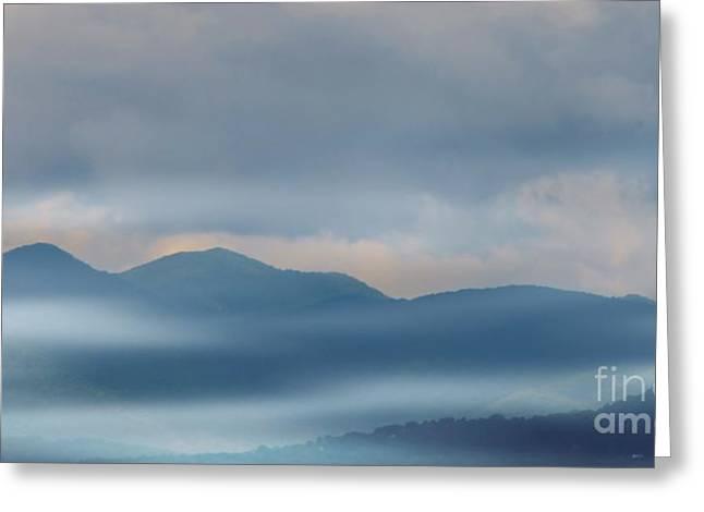 Haze Greeting Cards - Blue Ridge Mountains Greeting Card by Kathleen Struckle