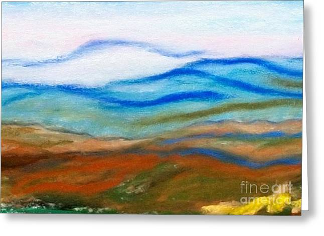 North Pastels Greeting Cards - Blue Ridge Mountains Greeting Card by Linda Eversole