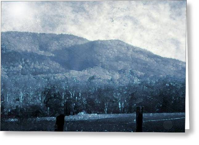 Geology Mixed Media Greeting Cards - Blue Ridge Mountains Painting Greeting Card by Dan Sproul