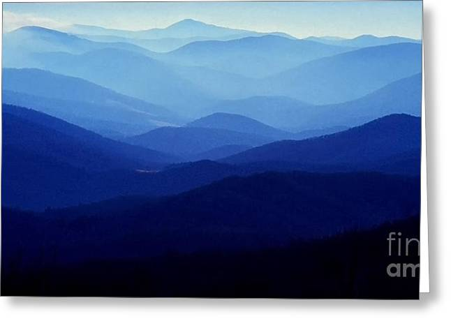 Shenandoah National Park Greeting Cards - Blue Ridge Mountains Greeting Card by Thomas R Fletcher