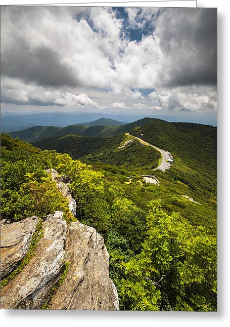 Blue Ridge Parkway Craggy Gardens Asheville Nc - Craggy Pinnacle Greeting Card by Dave Allen