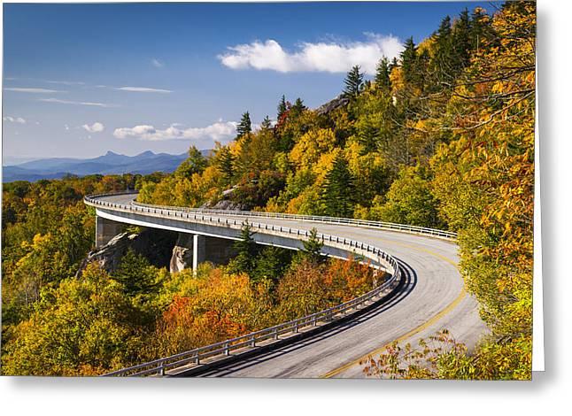Blue Ridge Parkway Linn Cove Viaduct - North Carolina Greeting Card by Dave Allen